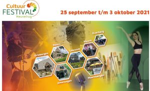 Het Cultuurfestival Heuvelrug start op zaterdag 25 september en Regio90 is er bij!